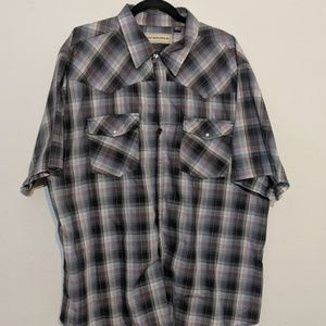 Bit & Bridle Pearl Snap Rodeo Western Shirt 3XL